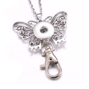 Jewelry - 18mm Snap ID HOLDER BADGE Holder Necklace Chain Ke